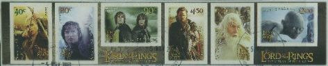 "NZ SG2658a Lord of the Rings: The Return of the King strip of 6 from FDC ""Jumbo Roll"" production"